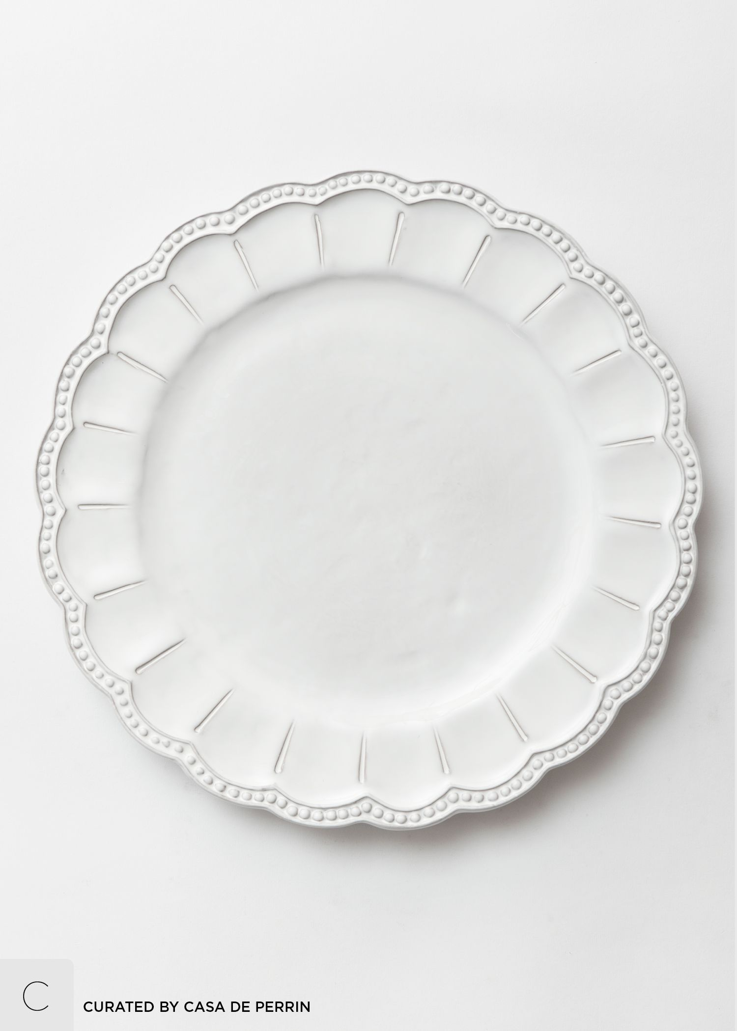 The Signature Collection Casa De Perrin White Charger White Charger Plates Hippie Home Decor