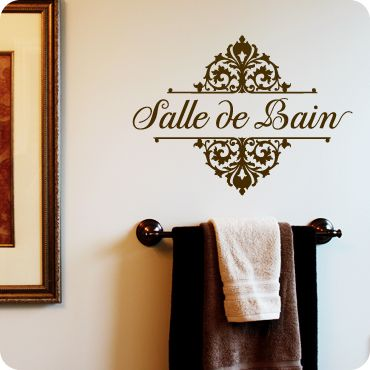 Salle De Bain (French for Bathroom)
