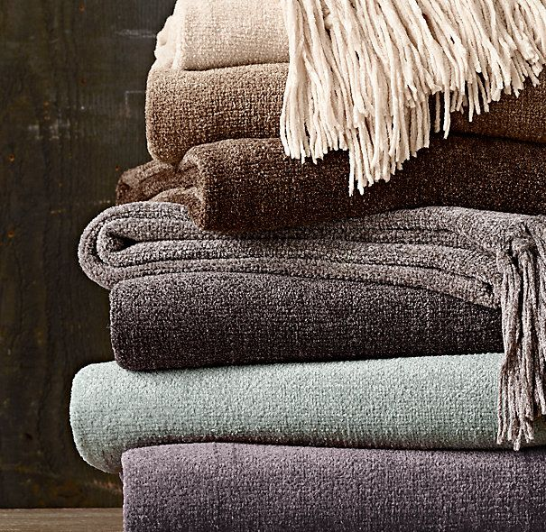 Awesome Chenille Throws   Solid