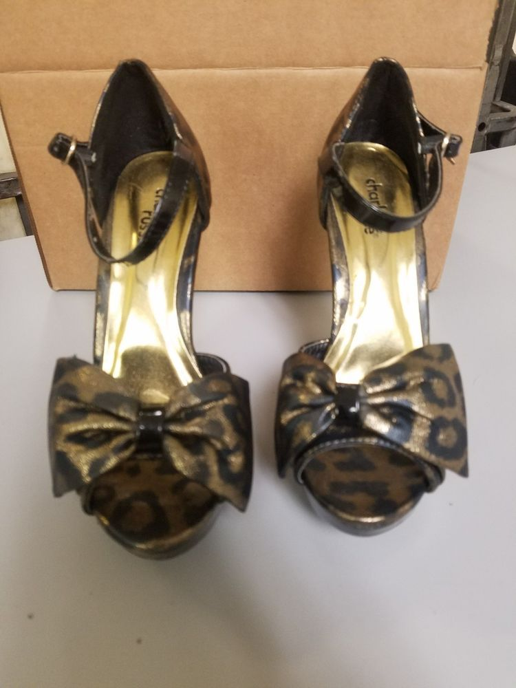 d6d54c7333c Charlotte Russe black and gold heels size 6 Preowned  fashion  clothing   shoes  accessories  womensshoes  heels (ebay link)