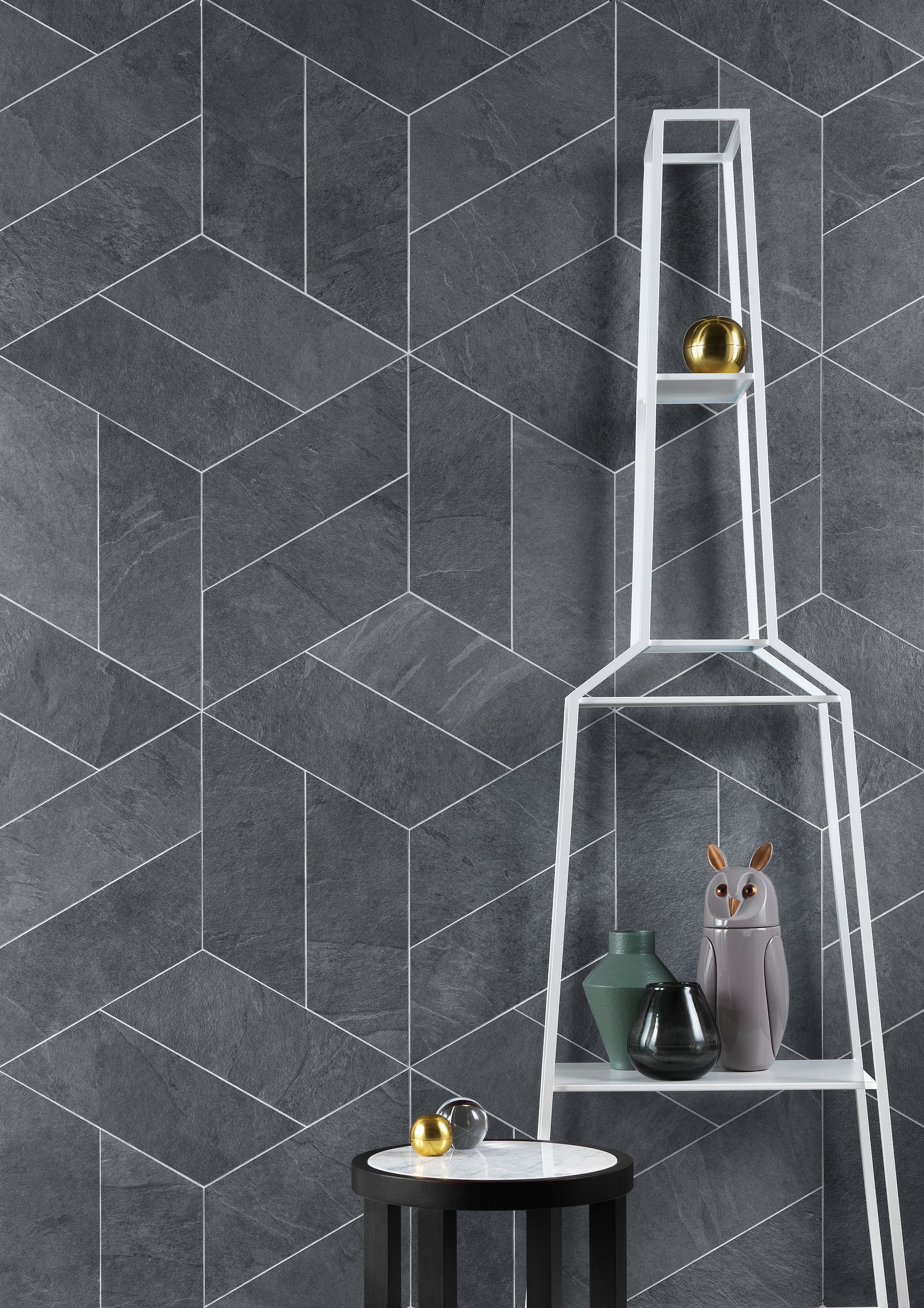 Lea Waterfall Realistically And Physically Represents Slate With Texture Irregularities And Variations Of Color The Gra Tile Trends Chevron Tile Tiles Texture