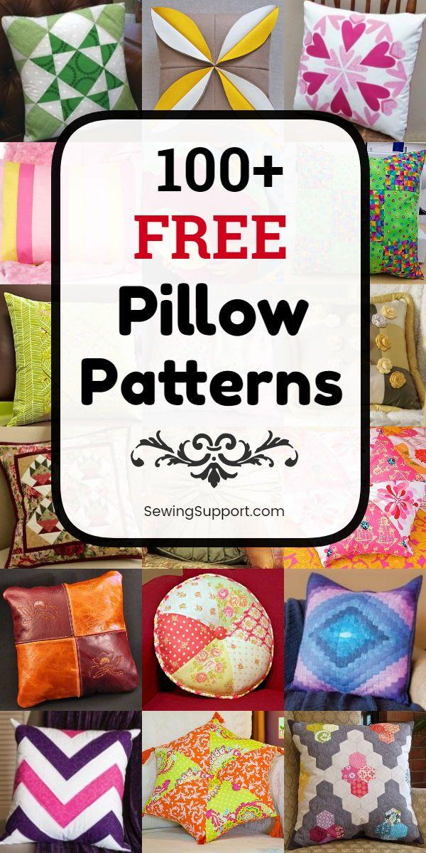 100  Free Pillow Patterns
