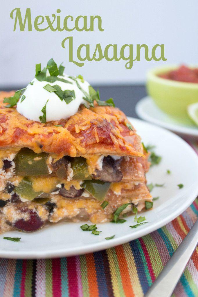 mexican lasagna recipe - easy and delicious! {healthy, too}