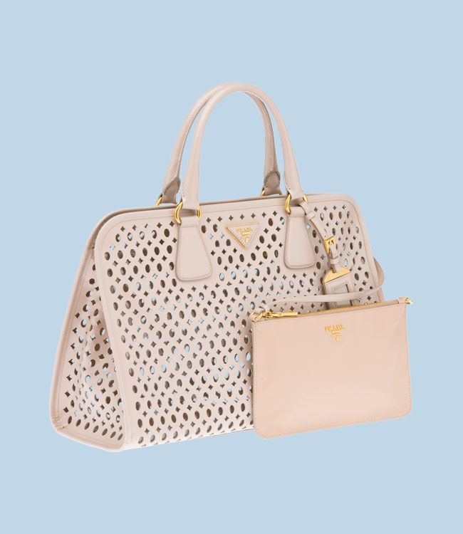 prada perforated saffiano patent leather tote  23fe8fd04b4e8