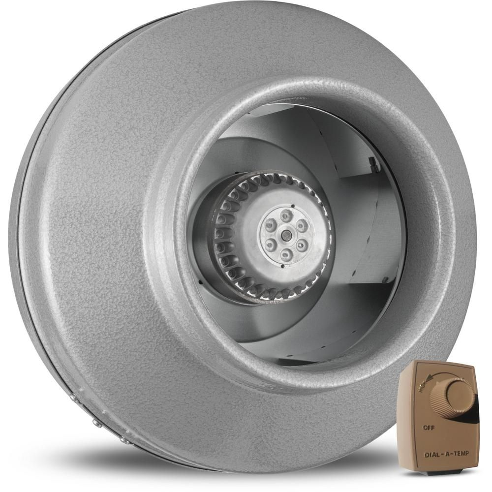 Vortex Power Fan VTX800L In-Line Duct Blower with Dial-A
