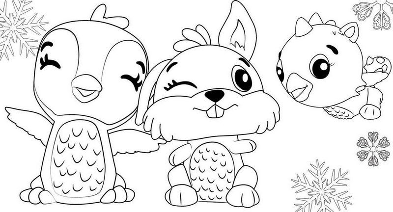 Bunwee Cloud Draggle And Giggling Penguala From Hatchimals Coloring Rhpinterest: Hatchimal Christmas Coloring Pages At Baymontmadison.com