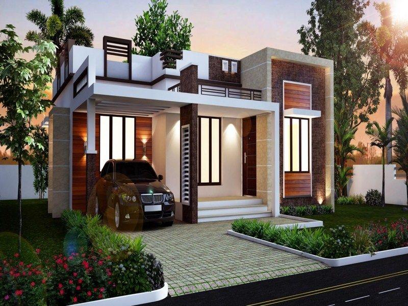 1 Hidden Roof Kerala House Design House Roof Design Flat Roof House