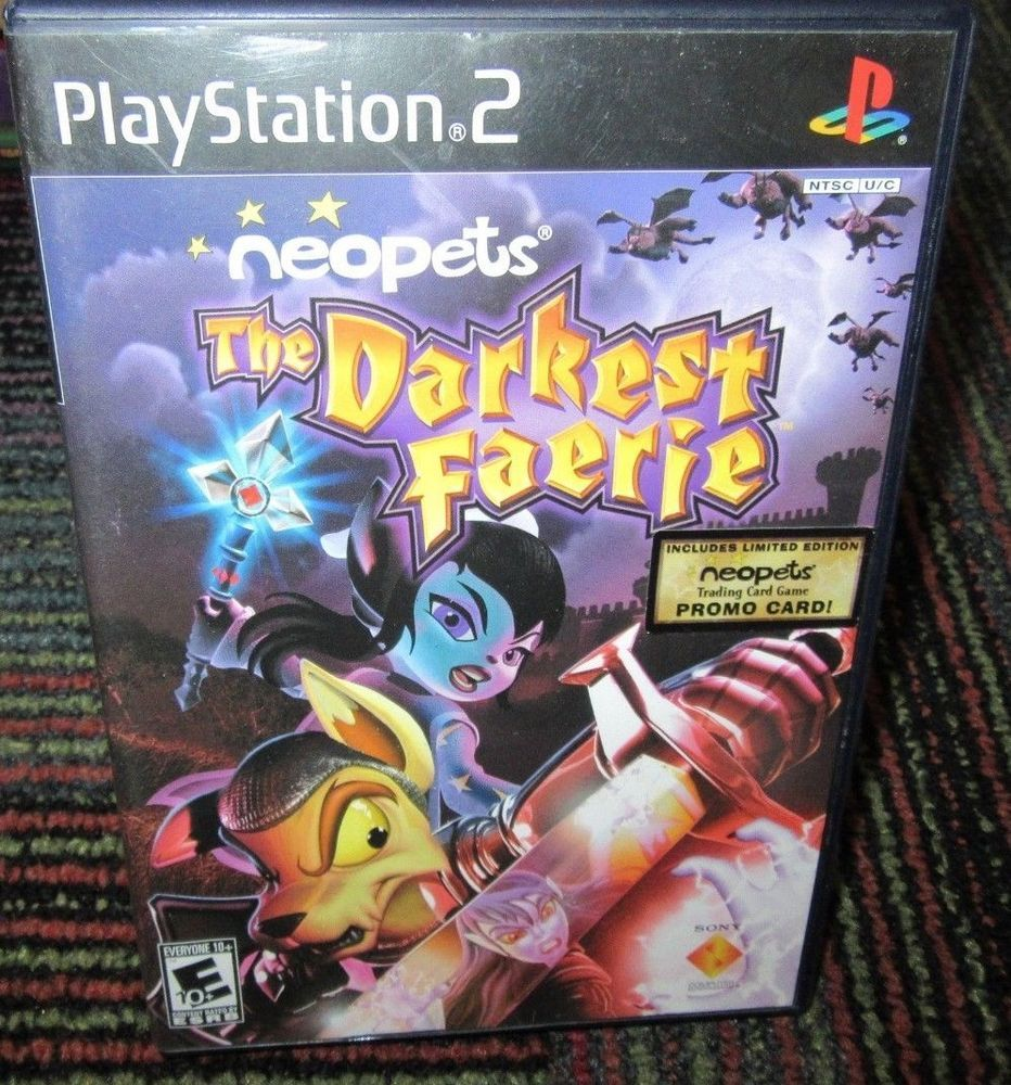 Neopets The Darkest Faerie Game For Playstation 2 Ps2 Game Case Manual Guc Neopets Playstation Playstation 2