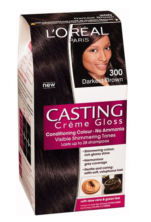 Loreal Paris Casting Cream Gloss 300 Darkest Brown Hair Colors