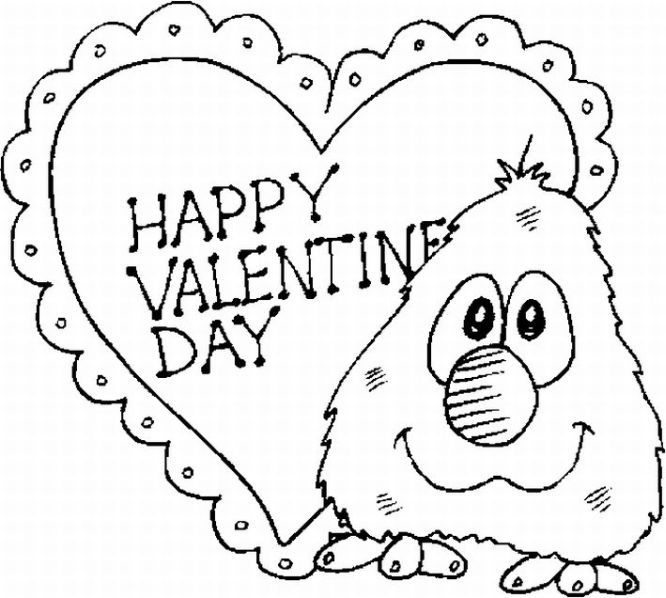 Free Printable Valentine Day Coloring Pages Valentines Day