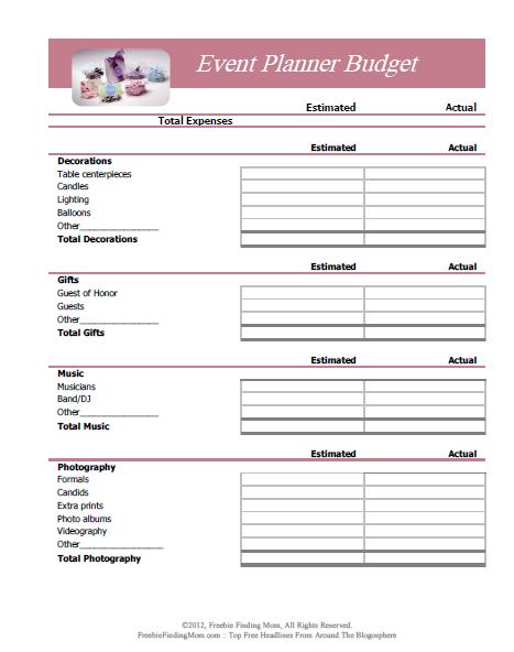 Budget Worksheet Printables Event Planning Worksheet Event Planning Template Event Planning Printables