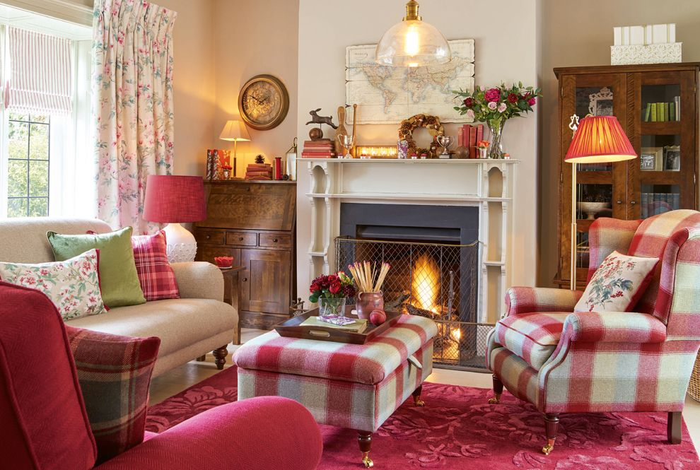 Autumn Cosiness With Cranberry Cottage Laura Ashley Blog Cottage Living Rooms Country Living Room Home