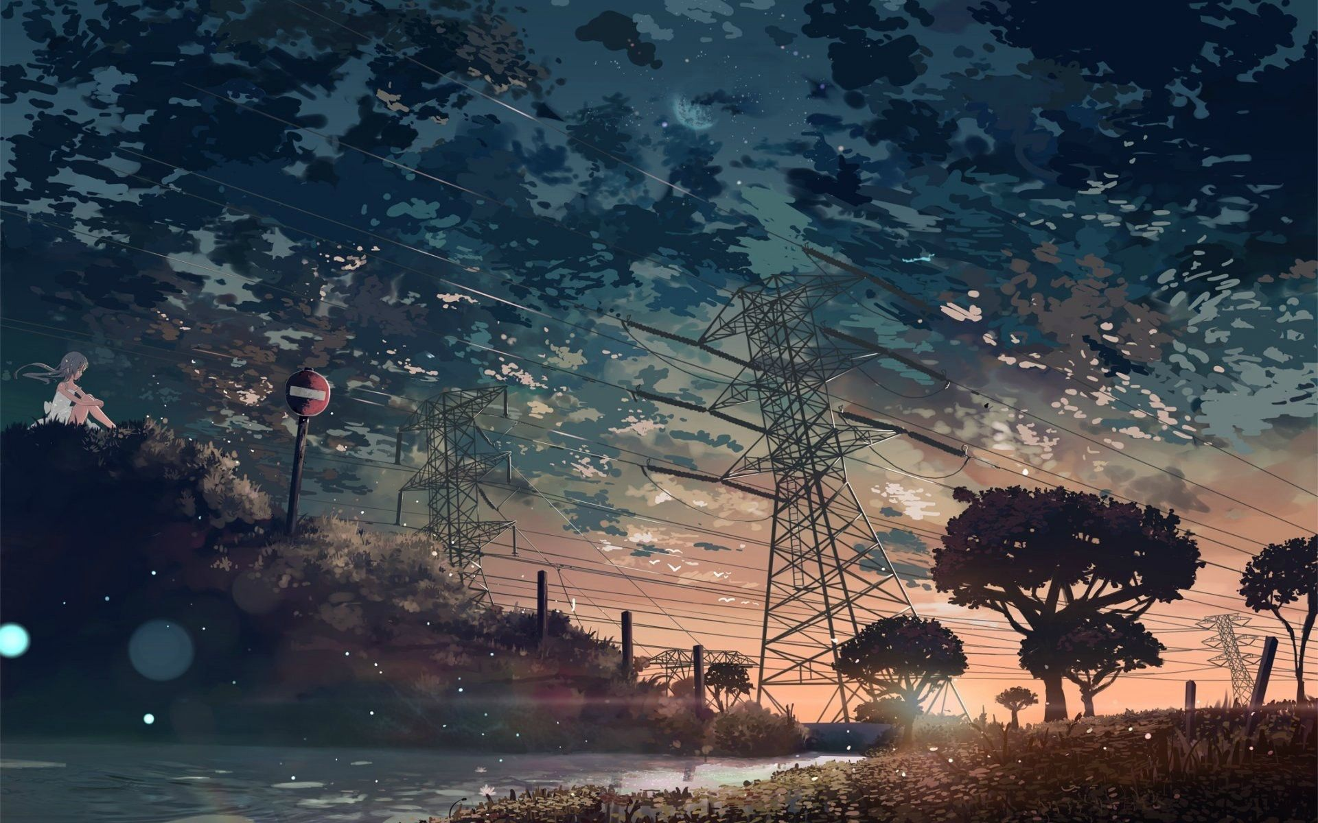 1920x1200 Awesome Aesthetic Anime Desktop Wallpaper Gallery Anime Wallpaper Hd Anime Scenery Scenery Wallpaper Landscape Wallpaper