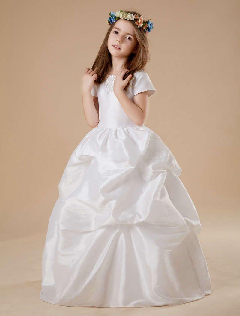 Ball gown flower girl dresses with sleeves girl dresses