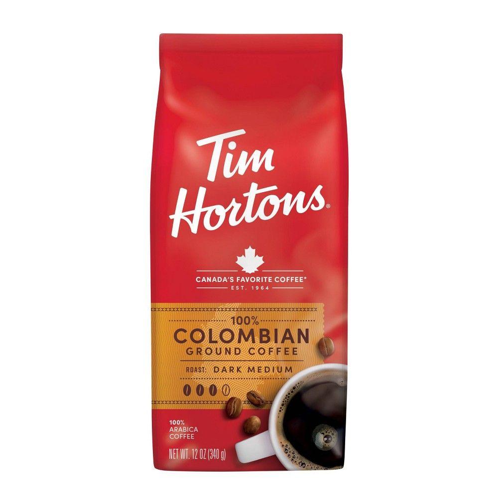 Tim Hortons Columbia Dark Medium Roast Ground Coffee