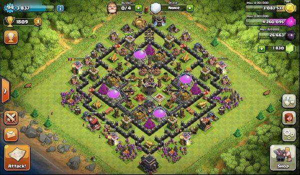 Coc Th Lvl 9 Base 5