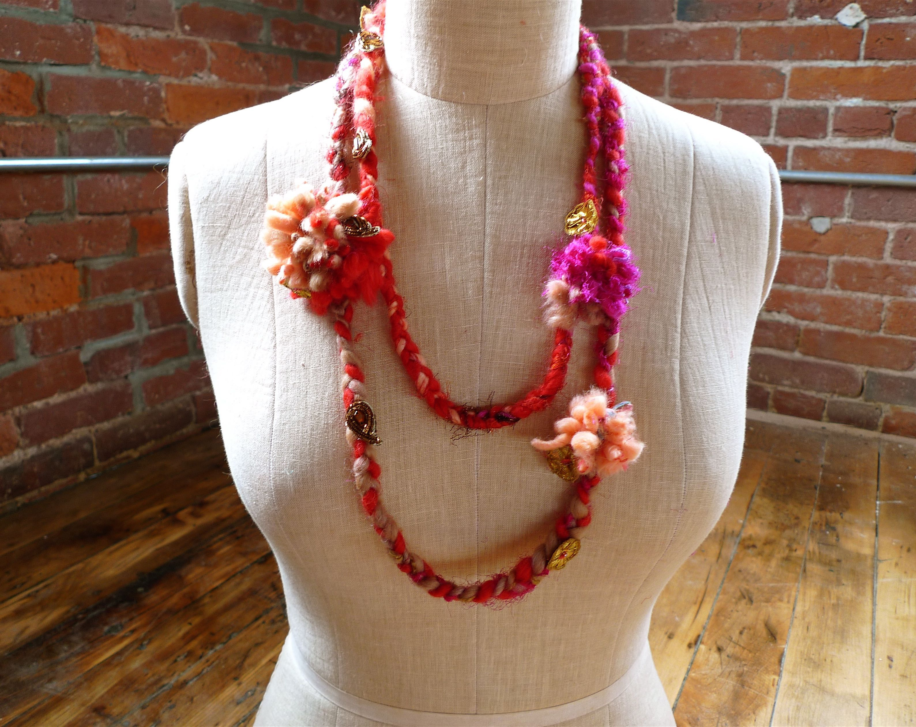Pom pom necklace wool pinterest free pattern yarns and patterns patterns bankloansurffo Images