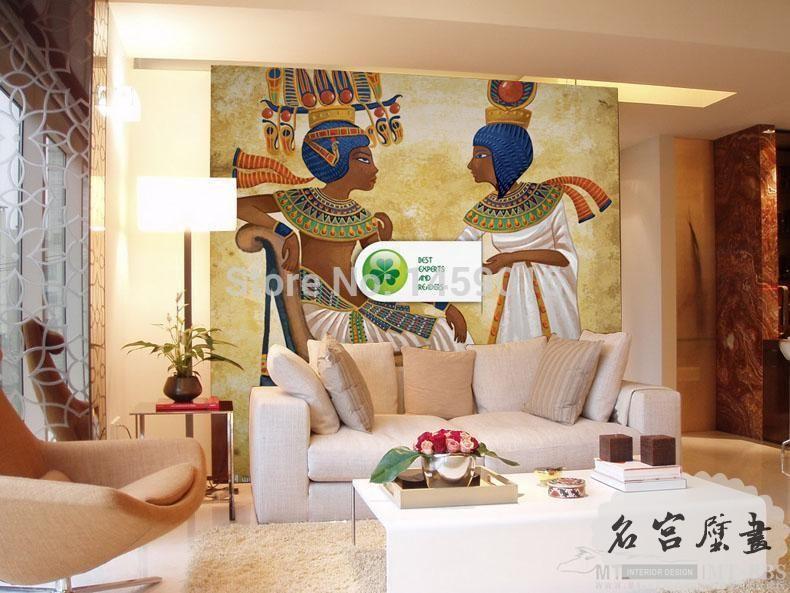 Living Room Bedding Kid S Room Tv Setting Wall Wallpaper 3d Ancient Egyptians Papel De