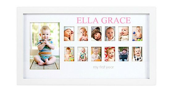 Personalized Babys First Year Photo Frame Babies Grow Up Too Fast
