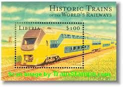 Liberia trains stamps