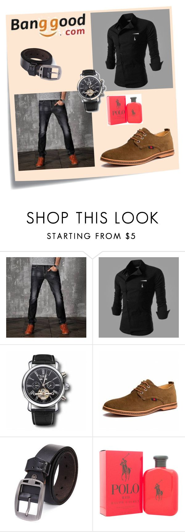 """Banggood II/2"" by a-camdzic ❤ liked on Polyvore featuring Post-It, Ralph Lauren, men's fashion and menswear"