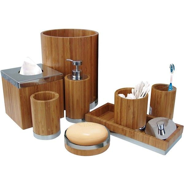 Nu Steel Ageless Collection Bathroom Accessories Set ,8-Piece Matching pieces include cotton swab/cotton container,soap dish,toothbrush holder,tumbler,soap and...