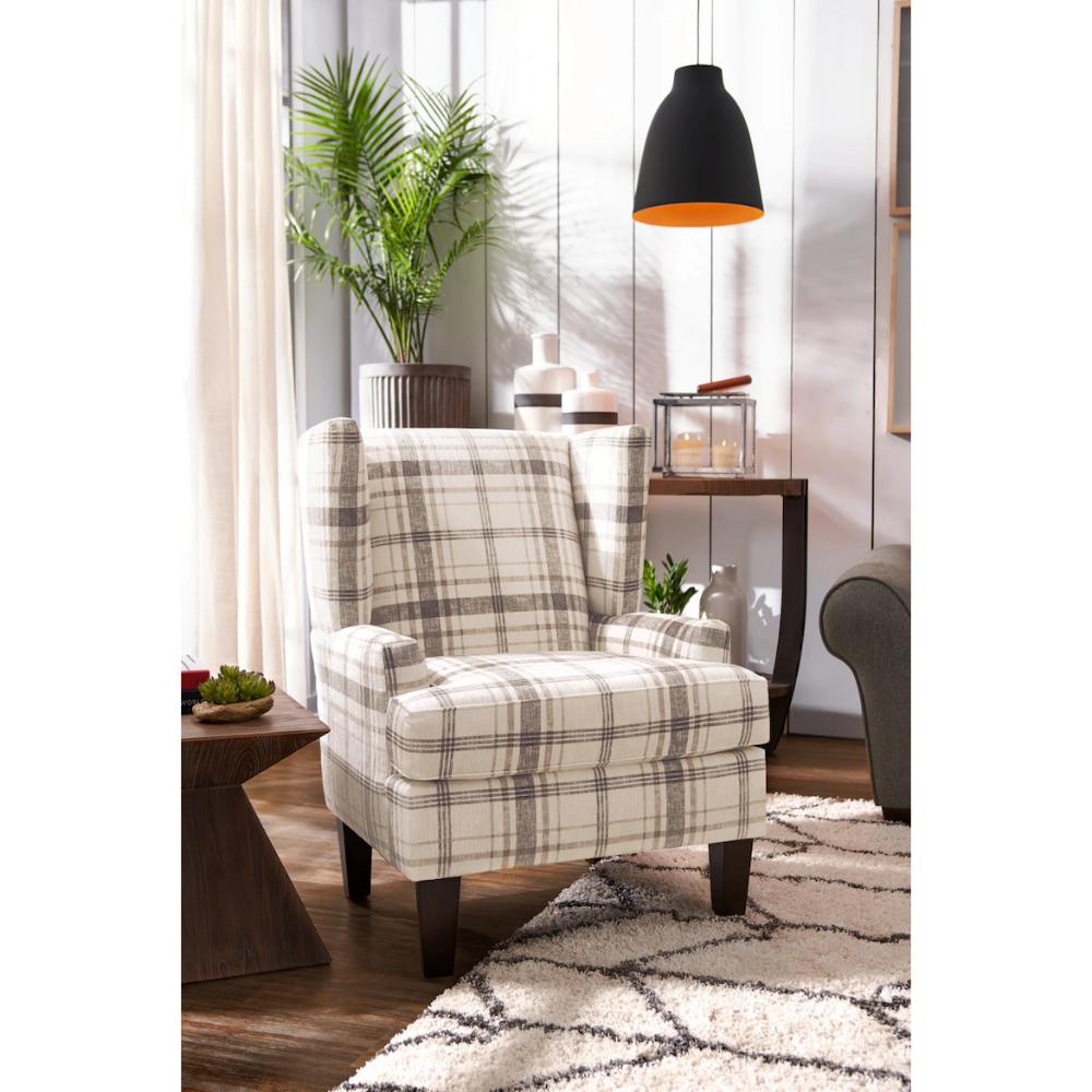 Best Rowan Accent Chair Plaid Furniture Cheap Living Room 400 x 300