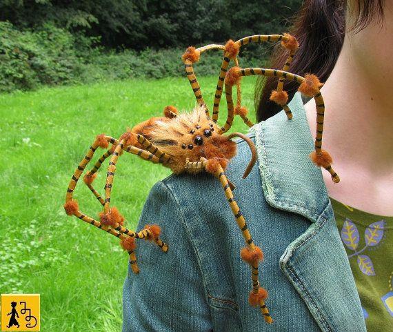 Anfertigung Auf Bestellung: Spinne Figur Puppe Halloween posierbar ...