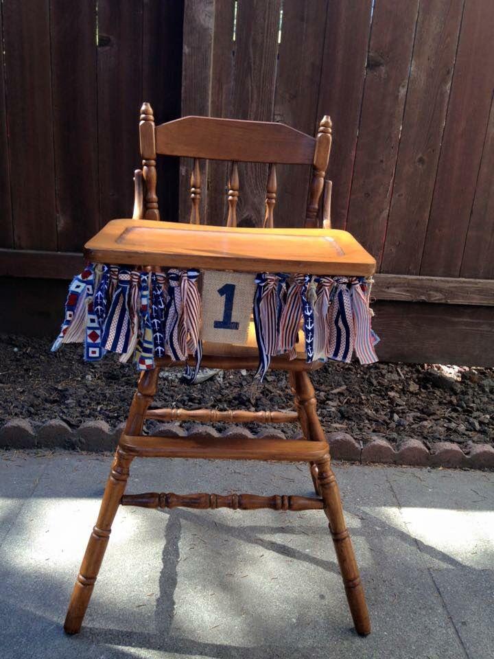 Nautical High Chair Rag Banner