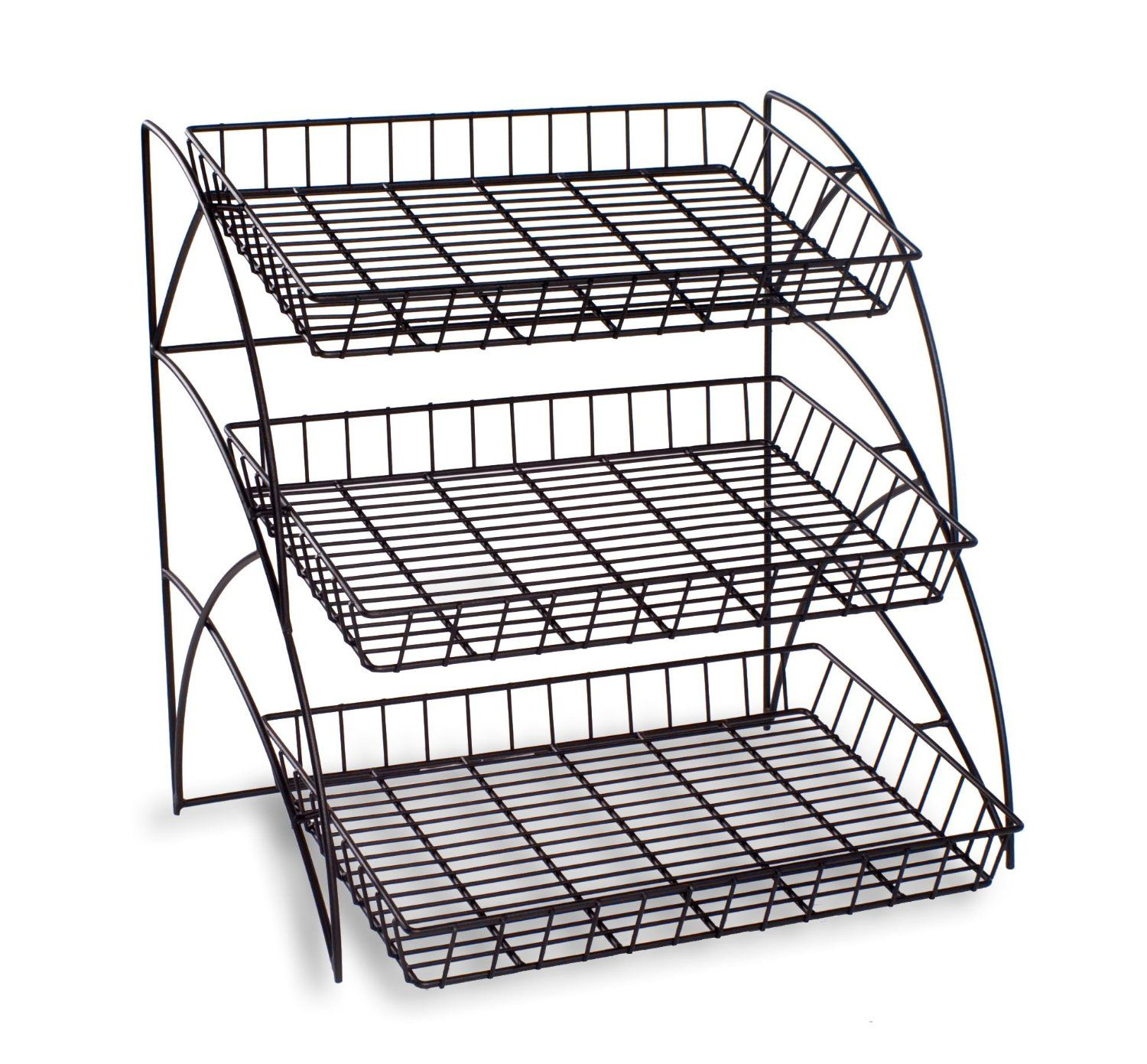 3 Tiered Wire Display Rack Designed For Displaying A Variety Of