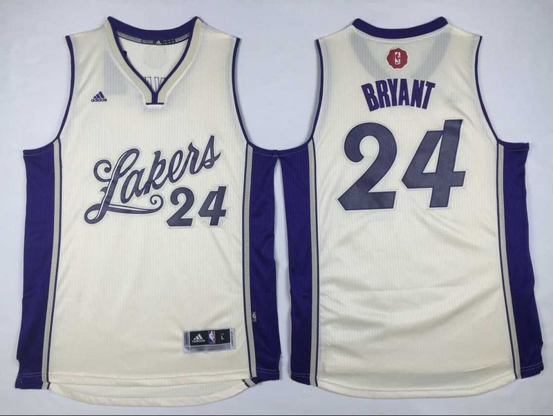 55acbac0429d  21.5 Adidas Los Angeles Lakers  24 Kobe Bryant Cream White 2015-2016  Christmas Day NBA Swingman Stitched Jersey cheap jersey from China