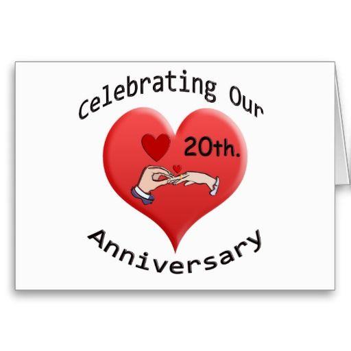 20th Anniversary Card Zazzle Com Wedding Anniversary Greeting Cards Anniversary Greeting Cards 20th Anniversary Cards