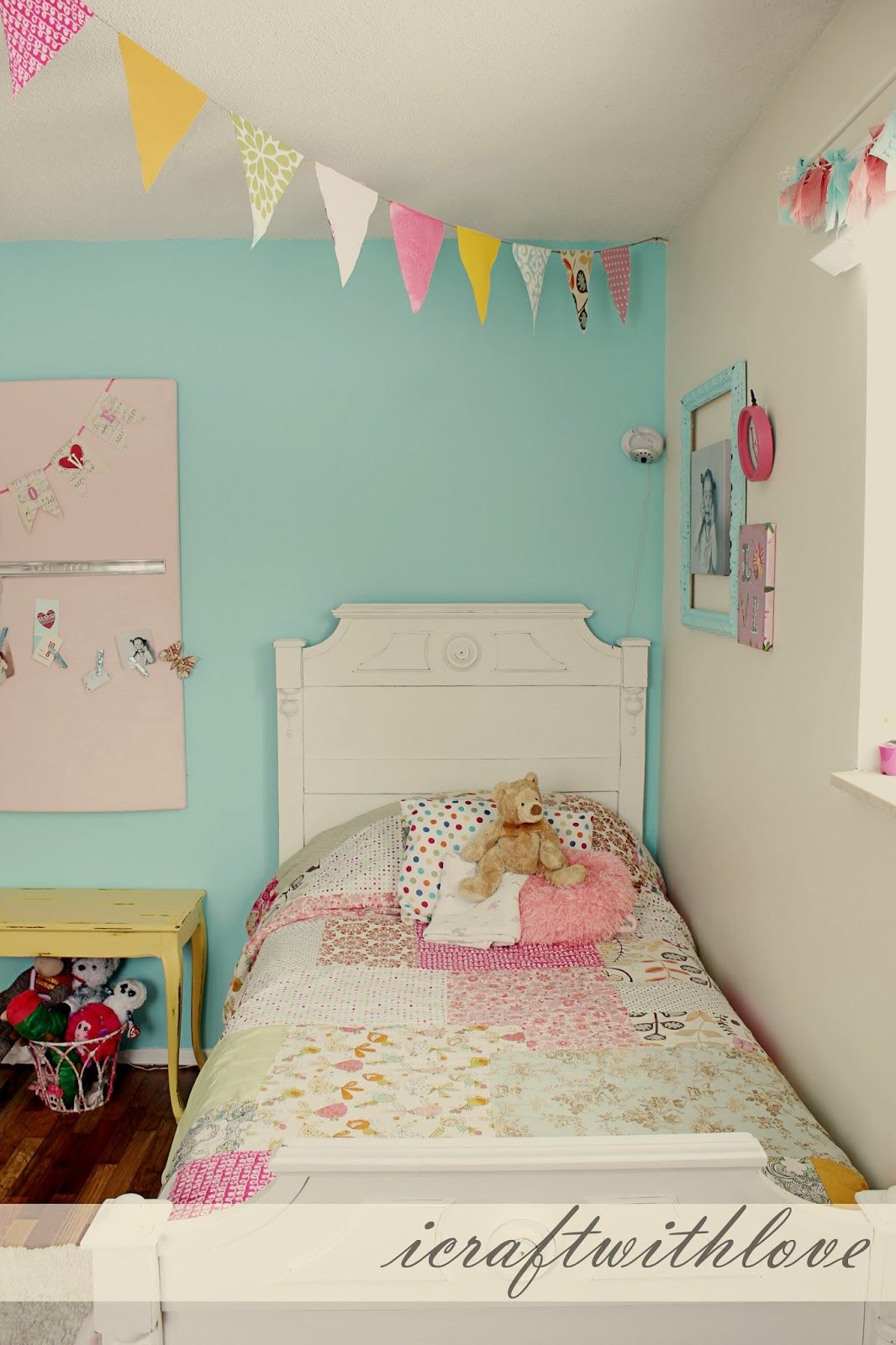 Kid Bedroom Paint Ideas: Bright Fun Girls Room. Paint Color: Behr Sweet Rhapsody