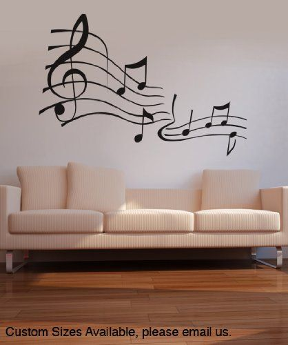 Vinyl Wall Decal Sticker Music Notes Kriley101s Stickerbrand Http