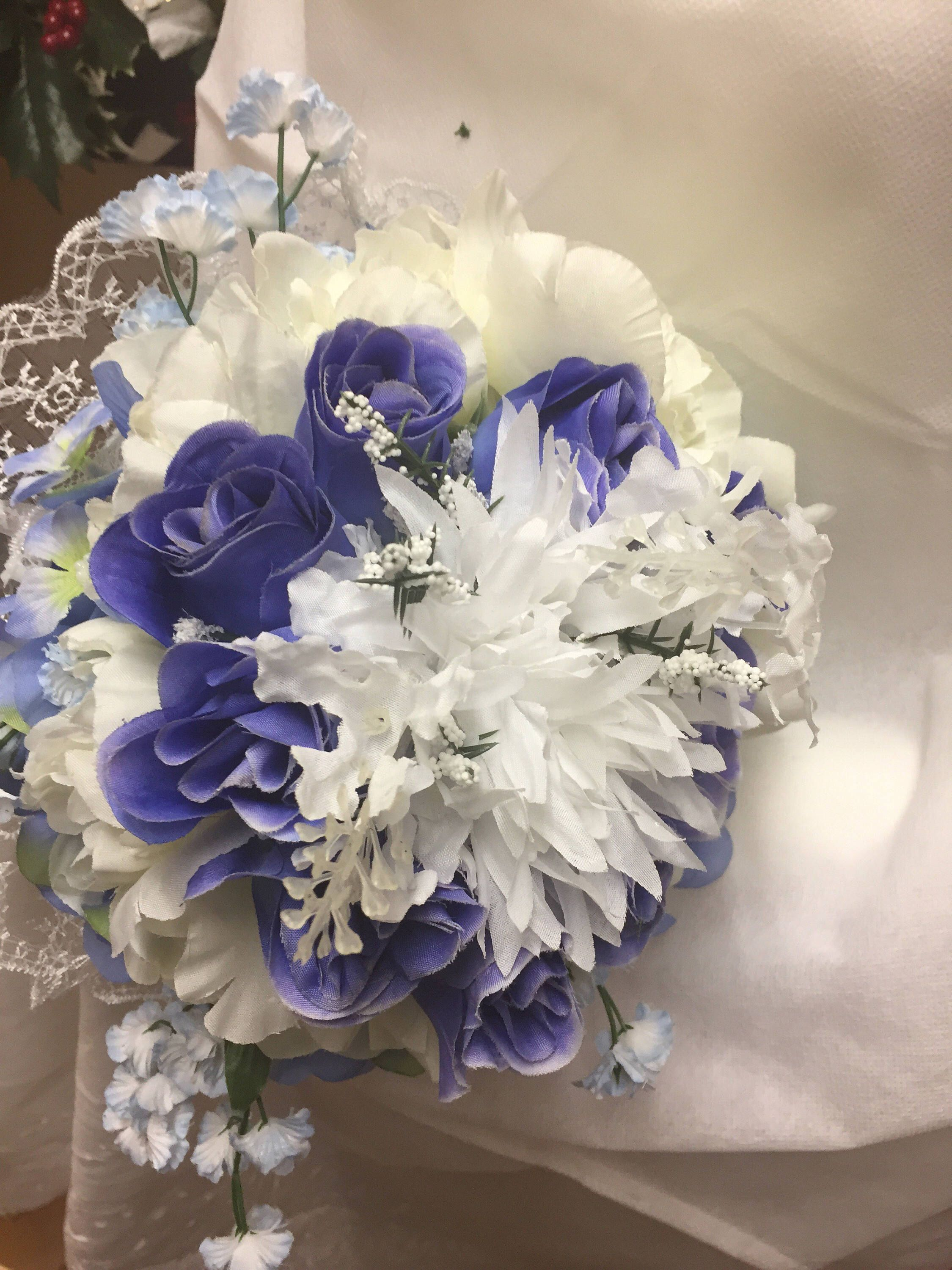 Wedding bouquet blue and white silk flowers artificial free shipping wedding bouquet blue and white silk flowers artificial free shipping in usa only mightylinksfo