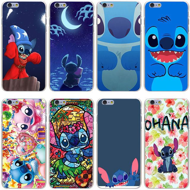 629bf86755 Stitch Disney Character Cute Cartoon Case Cover For Iphone Se 5 5S 6 6S 7  Plus