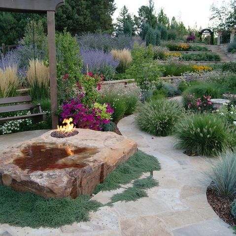 a beautiful garden mediterranean landscape denver designscapes colorado inc - Garden Design Usa