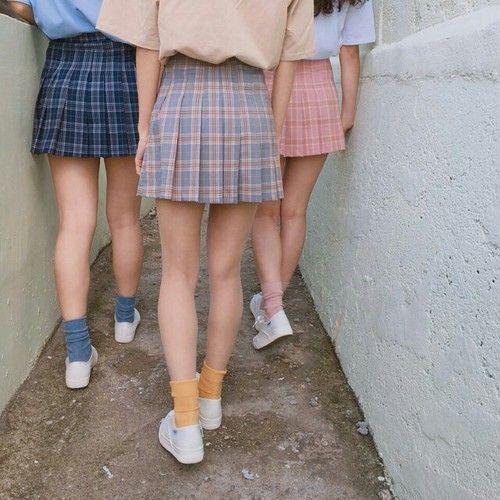 Girl Aesthetic And Skirt Image Fashion Korean Fashion Clothes