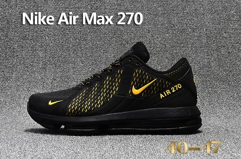 new styles f8038 87752 Nike Air Max 270 Black Yellow