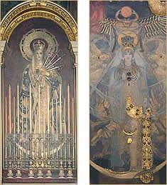Astarté fue la predecesora de la Afrodita griega. Para los sumerios era conocida como Innana; para los babilonios como Ishtar. Cuando se la contemplaba como Diosa del lucero de la mañana, Astarté era la Diosa de la guerra. Como Reina de la estrella del atardecer, era la Diosa del amor más apasionado.  Astarté aparece como una bellísima mujer dentro de un carro que es conducido por 7 leones, lleva una corona engalanada con hojas de mirto y es  acompañada por palomas.