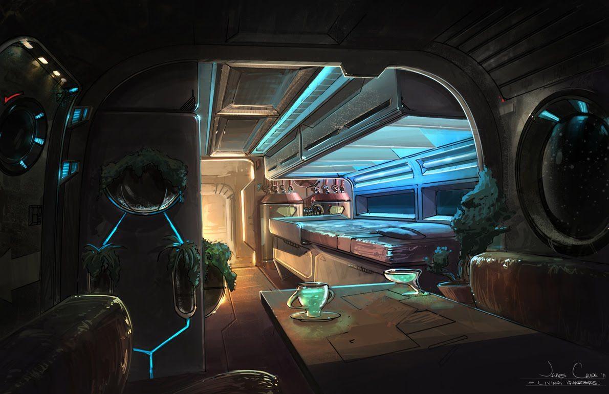 Concept art for 3d artists polycount forum 2d 3d art for Cyberpunk interior design