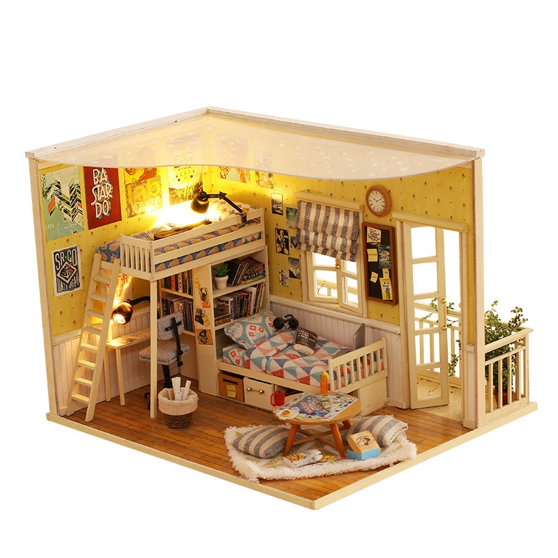 38 50 Buy Now Diy Miniature Wooden Doll House Furniture Kits Toys