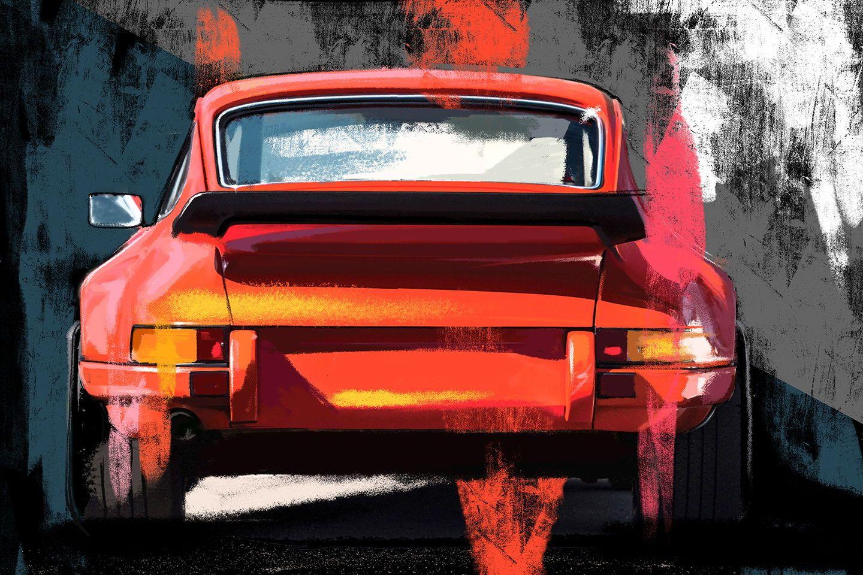 Porsche 996 GT2 Giclee Canvas Car Picture Wall Art