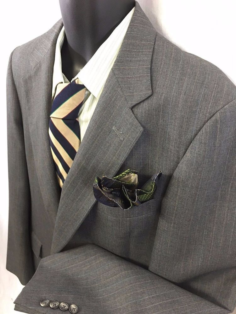 Austin Reed Of Regent Street Mens Sport Coat Gray Pinstripe Windsor Cloth Blazer Mens Sport Coat Blazer Outfits Blazer