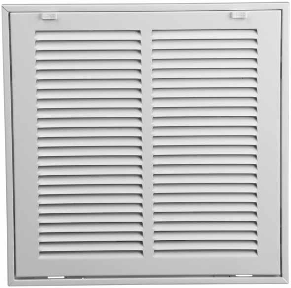 Return Air Filter Grill. Site also shows standard size