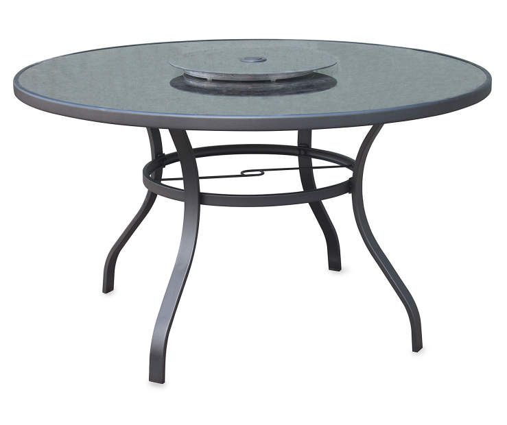 Patio Table With Lazy Susan At Lots