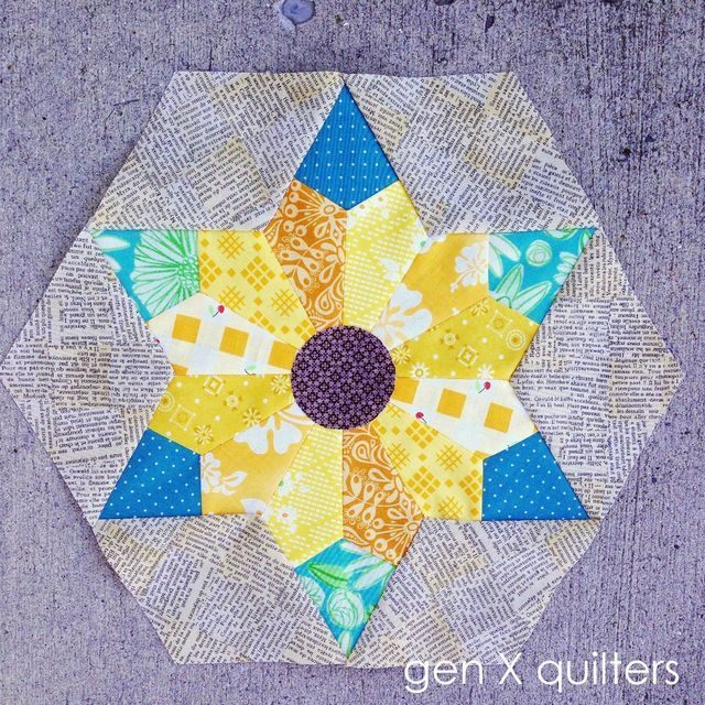 Soothing Sunflowers Quilt Block / Pillow