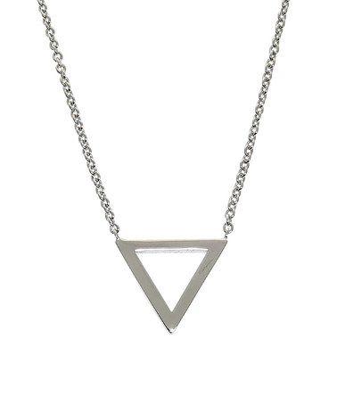 Look what I found on #zulily! Silvertone Geometric Triangle Necklace #zulilyfinds