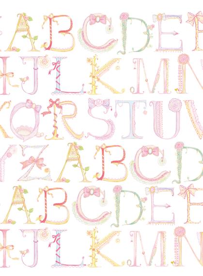 新しい アルファベット柄のグッズ 落書き風レタリング かわいいフォント アルファベット 手書き文字