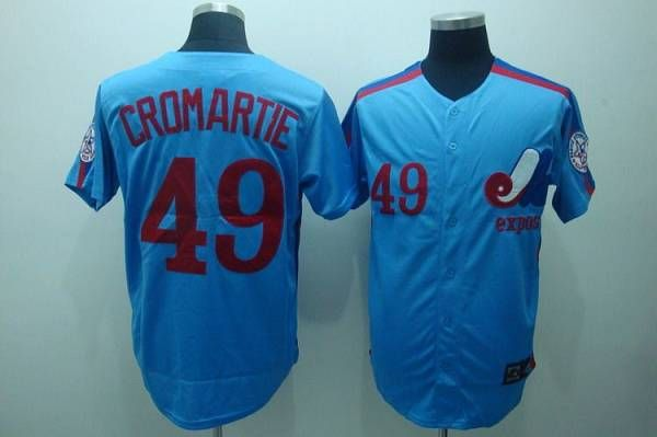 check out f29cb 5da6f Mitchell and Ness Expos #49 Warren Cromartie Blue Stitched ...